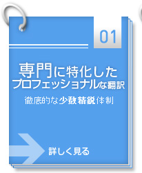 専門に特化したプロフェッショナルな翻訳